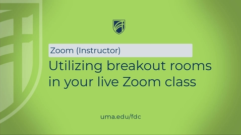 Thumbnail for entry Utilizing breakout rooms in your live Zoom class