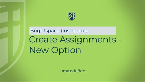 Thumbnail for entry Creating Assignments - New View
