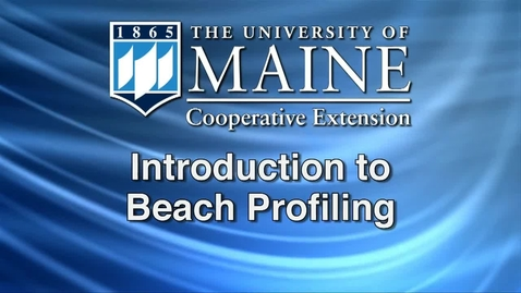 Thumbnail for entry Introduction to Beach Profiling