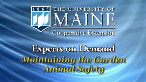 Thumbnail for entry Maintaining the Garden: Animal Safety