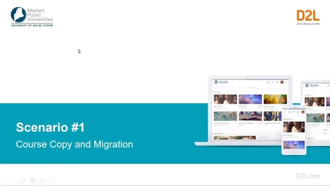 Thumbnail for entry D2L Scenario #1 Course Copy and Migration
