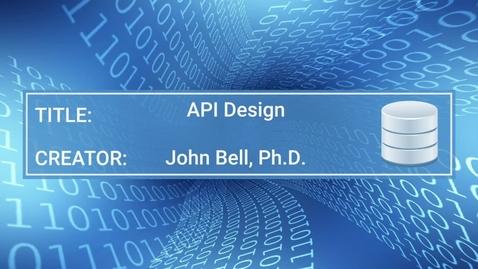 Thumbnail for entry DIG510 API Design