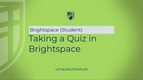Thumbnail for entry Taking a Quiz in Brightspace