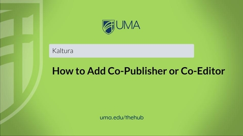 Thumbnail for entry How to Add Co-Publisher or Co-Editor