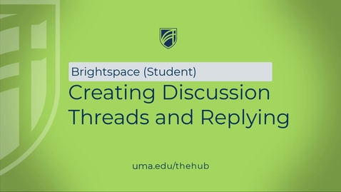 Thumbnail for entry Creating Discussion Threads and Replying
