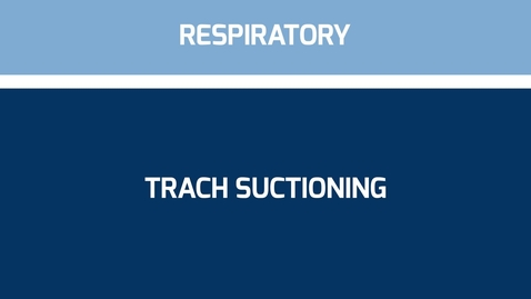 Thumbnail for entry Suctioning Trach