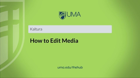 Thumbnail for entry How to Edit Media