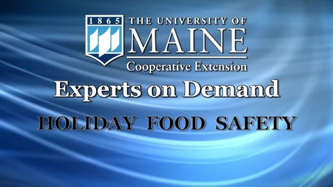 Thumbnail for entry Holiday Food Safety Tips