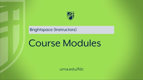 Thumbnail for entry Course Modules