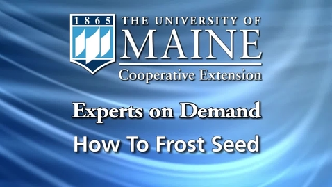 Thumbnail for entry How to Frost Seed