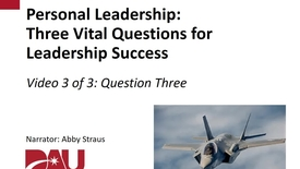 Thumbnail for entry Three Vital Questions-How can I realize my desired outcomes?