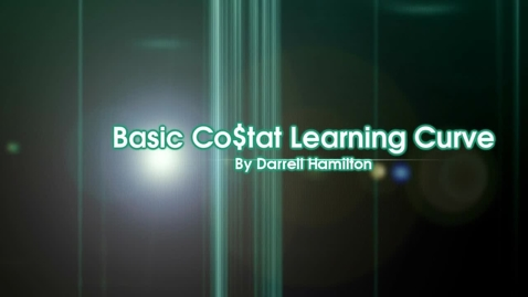 Thumbnail for entry Basic Costat Learning Curve Part 3 Learning Fixed Model