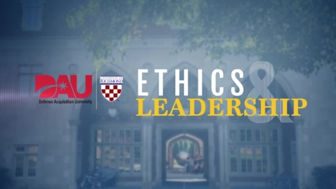 Thumbnail for entry Ethics and Leadership