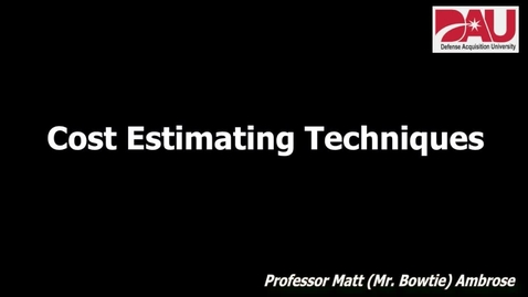Thumbnail for entry Cost Estimating Methods