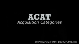 Thumbnail for entry Acquisition Categories