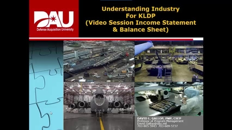 Thumbnail for entry KLDP Understanding Industry-Income Statement and Balance Sheet