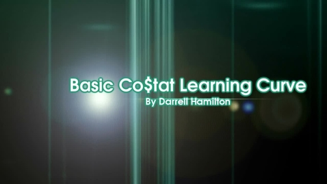 Thumbnail for entry Basic Costat Learning Curve Part 2 Learning Rate Model