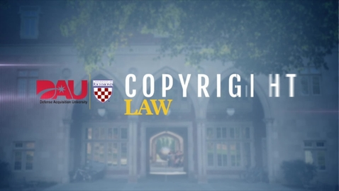 Thumbnail for entry Copyright Law