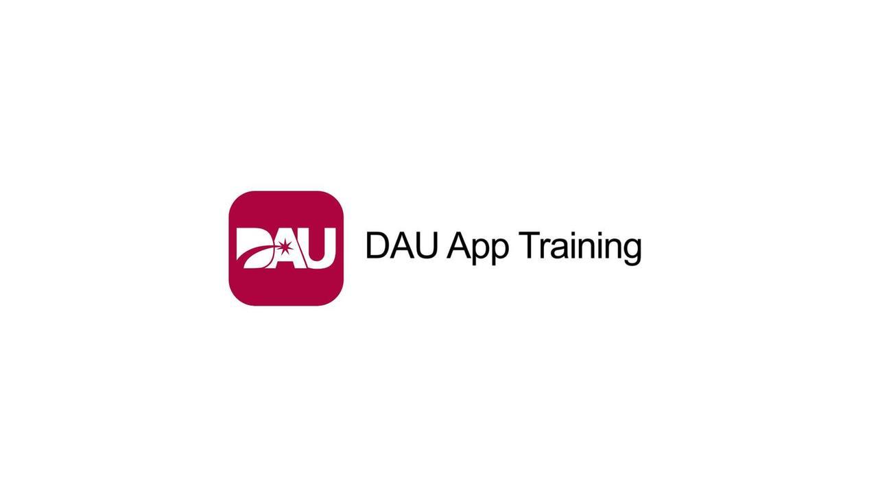 DAU App Training Video