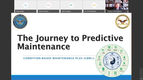 Thumbnail for entry Sustainment Series Condition-Based Maintenance Plus A Journey Toward Predictive Maintenance 3.9.21