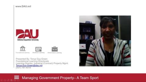 Thumbnail for entry Managing Government Property - A Team Sport