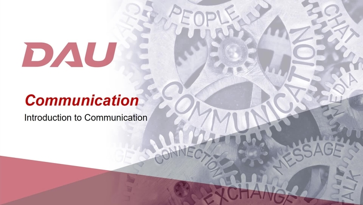 1.0 Introduction to Communication