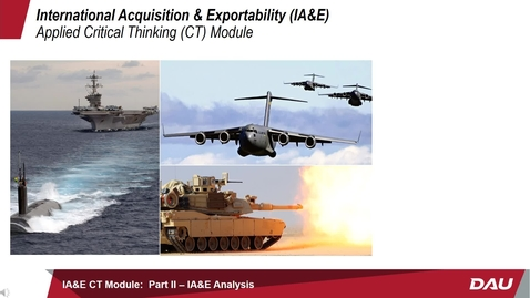 Thumbnail for entry IA&E Applied Critical Thinking Module:  Part II -- IA&E Analysis