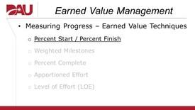 Thumbnail for entry Earned Value Technique (Percent Start - Percent Finish)