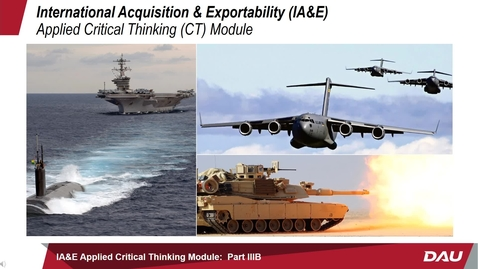 Thumbnail for entry Applied IA&E Critical Thinking Module: Part IIIB -- Interest Based Negotiation Decision Framework