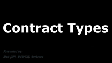 Thumbnail for entry Contract Type Basics