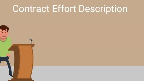 Thumbnail for entry CPARS Contract Effort Description