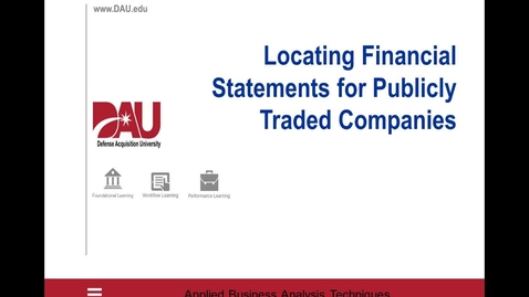 Thumbnail for entry Contractor Financial Analysis - SEC Search Job Aid