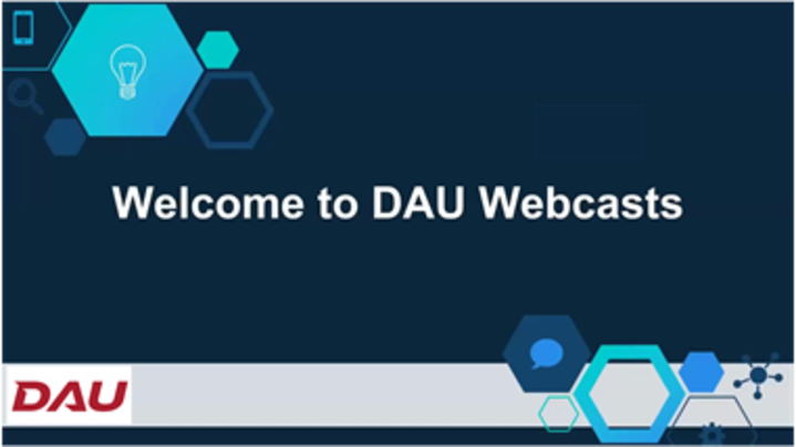 Thumbnail for channel DAU Webcasts