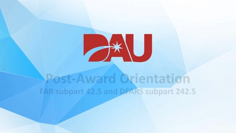 Thumbnail for entry Post-Award Orientation (Conference)