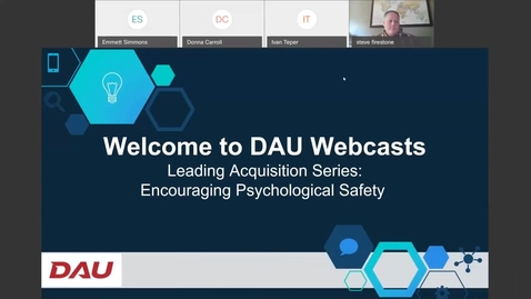 Thumbnail for entry Leading Acquisition Series Encouraging Psychological Safety 5.5.21