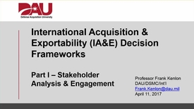 Thumbnail for entry DAU IA&E Decision Frameworks - Pt I