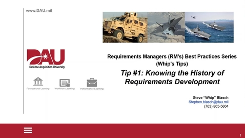 Thumbnail for entry Requirements Managers Best Practices-Tip #1-Knowing Requirements History and Rationale