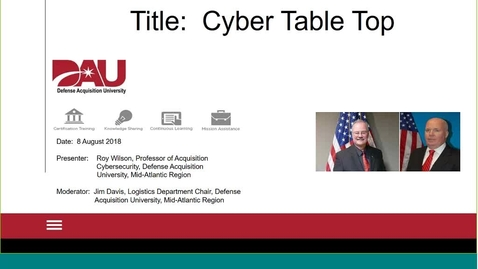 Thumbnail for entry Cybersecurity Table Top Evaluation Tool