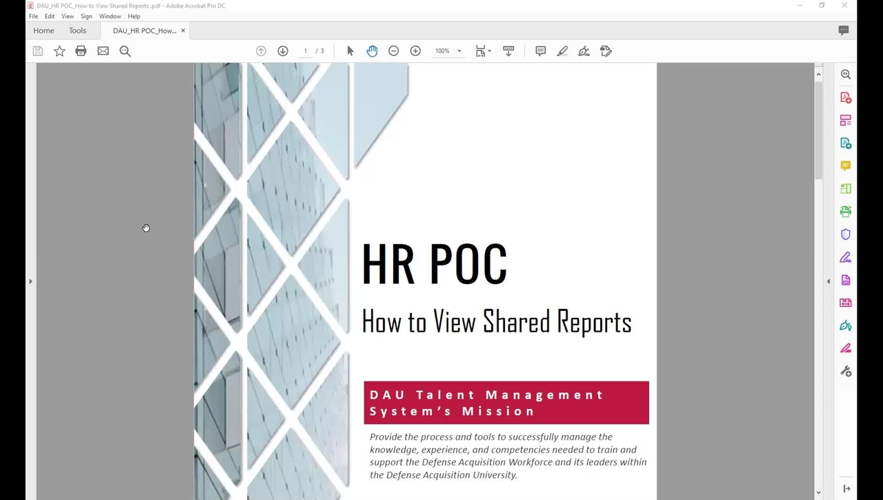 Performance Management Reports for Human Resources Liaisons