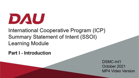 Thumbnail for entry ICP SSOI Learning Module -- Part I -- Introduction