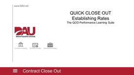 Thumbnail for entry Establish QCO Rates