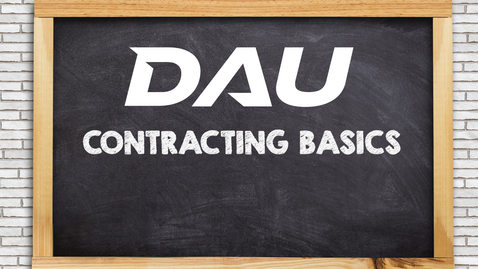 Thumbnail for entry Contract File Documentation 101 - A Contracting Basics Session