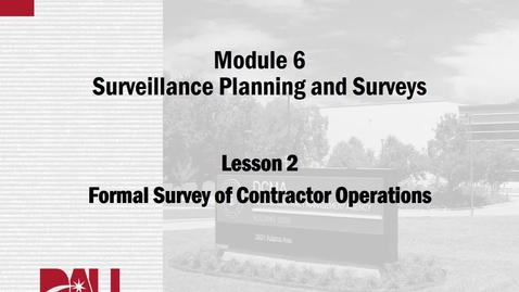 Thumbnail for entry CMA241V, M06, Lesson 2, Surveys