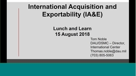Thumbnail for entry DAU L&L -   International Acquisition and Exportability _2