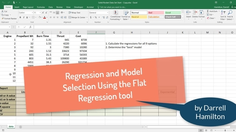 Thumbnail for entry Regression and Model Selection