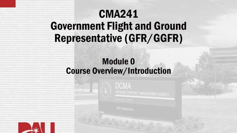 Thumbnail for entry 0C. CMA241V, Lesson 0, Course Intro