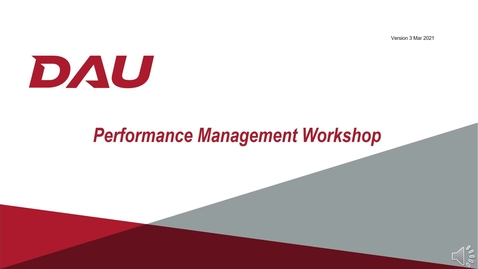 Thumbnail for entry Performance Management Workshop