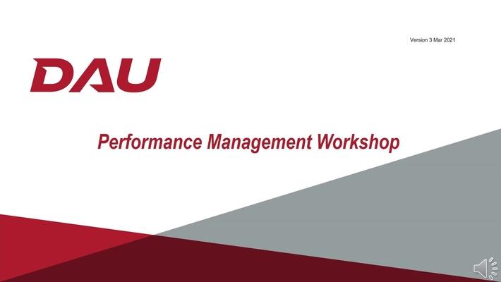 Performance Management Workshop