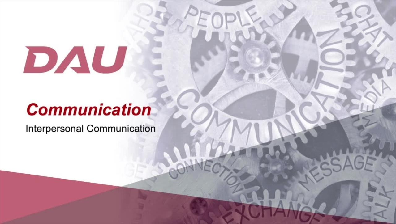 8.0 Interpersonal Communication