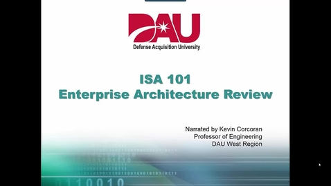 Thumbnail for entry ISA201 Lesson 9 Enterprise Architecture Homework
